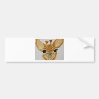 Autocollant De Voiture Girafe contagieuse de conception d'oeil moderne à