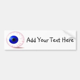Autocollant De Voiture Globe oculaire injecté de sang bleu
