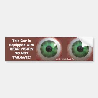 Autocollant De Voiture Globe oculaire vert déplaisant d'amusement -