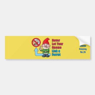 Autocollant De Voiture Gnome idiot et furet