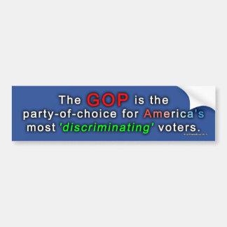 """Autocollant De Voiture GOP le partie-de-choix des électeurs """"de"""