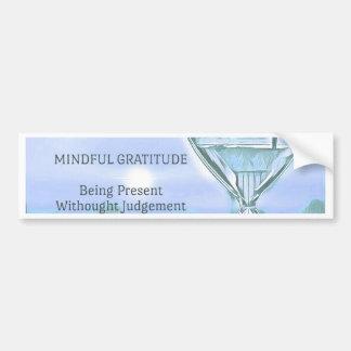 Autocollant De Voiture Gratitude apaisante bleue en pastel de sablier de