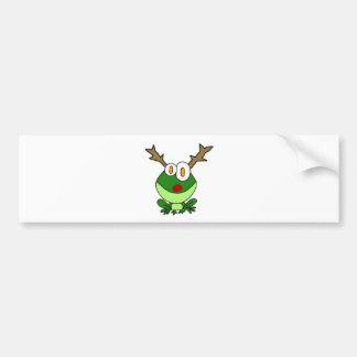 Autocollant De Voiture Grenouille drôle de Noël comme renne