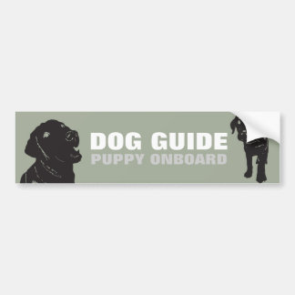 Autocollant De Voiture Guide de chien à bord d'adhésif pour pare-chocs -