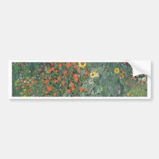 Autocollant De Voiture Gustav Klimt - fleurs de tournesols de jardin de