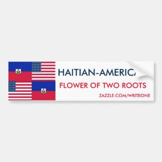 AUTOCOLLANT DE VOITURE HAITIAN-AMERICAN