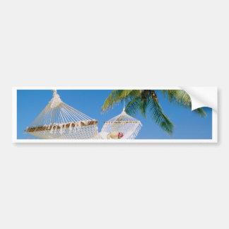 Autocollant De Voiture Hamac de vacances de paradis de plage