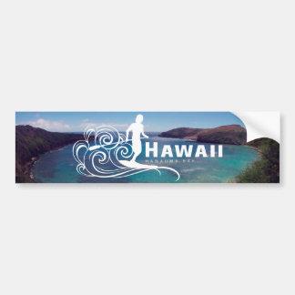 Autocollant De Voiture Hawaï tiennent la palette et la baie de Hanauma