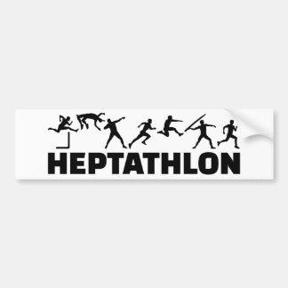 Autocollant De Voiture Heptathlon