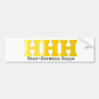 Autocollant De Voiture HHH   Hans-Hermann Hoppe