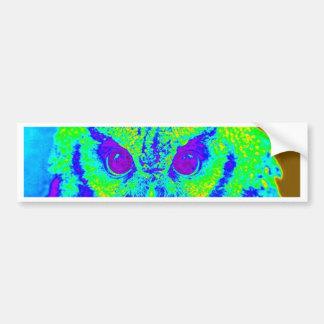 Autocollant De Voiture hibou fluorescent