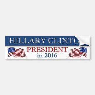 Autocollant De Voiture Hillary Clinton 2016 patriote