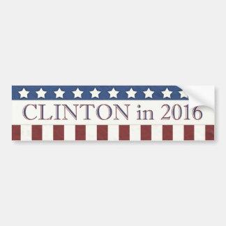 Autocollant De Voiture Hillary Clinton 2016 rayures d'étoiles