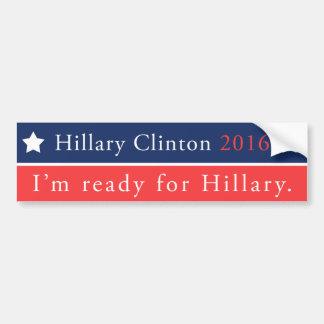 Autocollant De Voiture Hillary Clinton pour le président 2016