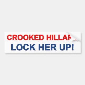 Autocollant De Voiture Hillary tordue l'enferment