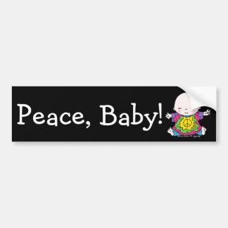 Autocollant De Voiture Hippie de bébé de paix/colorant mignons cravate de