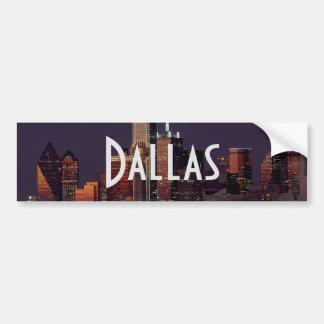 Autocollant De Voiture Horizon de Dallas la nuit
