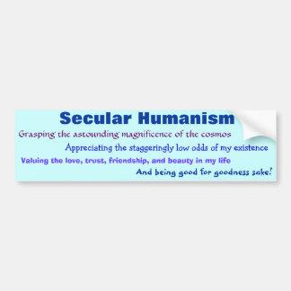 Autocollant De Voiture Humanisme laïque