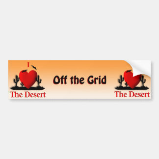 Autocollant De Voiture I coeur le désert