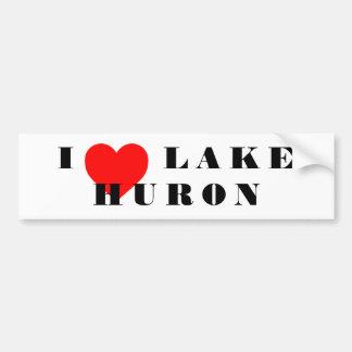 Autocollant De Voiture I coeur le lac Huron