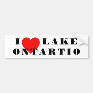Autocollant De Voiture I coeur le lac Ontario
