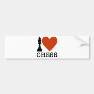 Autocollant De Voiture I échecs de coeur