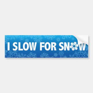 Autocollant De Voiture I ralentissez pour la neige - avertissez l'hiver