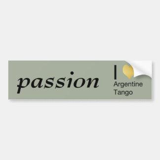 Autocollant De Voiture I tango d'Argentin de coeur