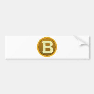 Autocollant De Voiture Icône de Bitcoin