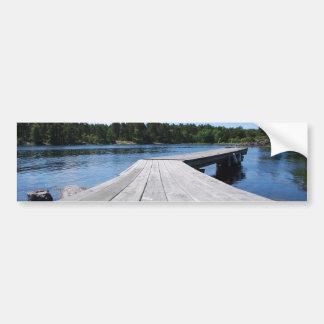 Autocollant De Voiture Idylle d'été sur un fjord suédois isolé