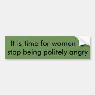 Autocollant De Voiture Il est temps pour que les femmes cessent d'être