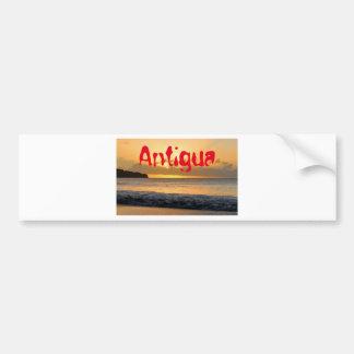 Autocollant De Voiture Île tropicale à l'Antigua