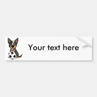 Autocollant De Voiture Illustration australienne du football de chien de