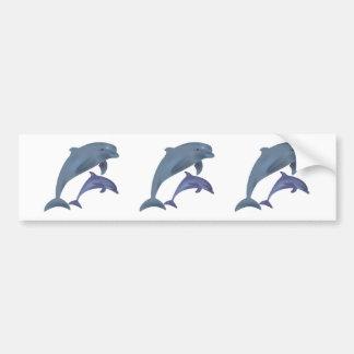 Autocollant De Voiture Illustration sautante de dauphins