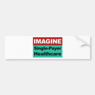 Autocollant De Voiture Imaginez les soins de santé simples de débiteur