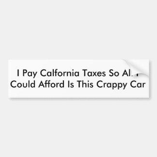 Autocollant De Voiture Impôt de la Californie