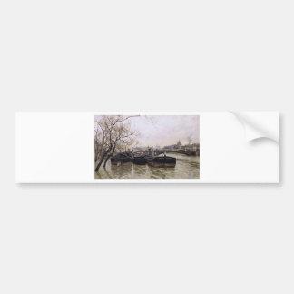 Autocollant De Voiture Inondation par la Seine par des frittes Thaulow