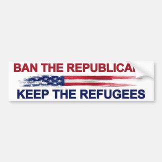Autocollant De Voiture Interdisez les républicains gardent les réfugiés