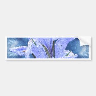 Autocollant De Voiture Iris bleu de goutte de pluie