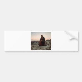 Autocollant De Voiture Ivan Kramskoy- le Christ en beaux-arts de région