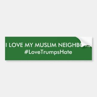 """Autocollant De Voiture """"J'adhésif pour pare-chocs aime mes voisins"""