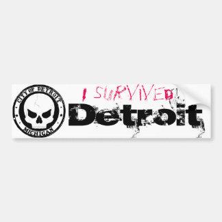Autocollant De Voiture J'ai survécu à Detroit