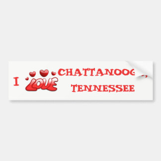 AUTOCOLLANT DE VOITURE J'AIME CHATTANOOGA, TENNESSEE