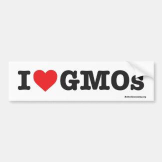 Autocollant De Voiture J'aime des OGM ! - Adhésif pour pare-chocs