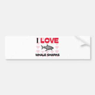 Autocollant De Voiture J'aime des requins de baleine