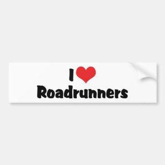 Autocollant De Voiture J'aime des Roadrunners de coeur