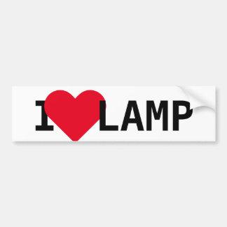 Autocollant De Voiture J'aime la lampe