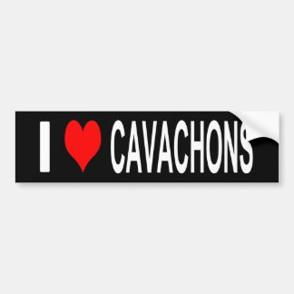 Autocollant De Voiture J'aime l'adhésif pour pare-chocs de Cavachons