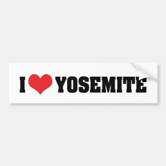 Autocollant De Voiture J'aime l'adhésif pour pare-chocs de Yosemite