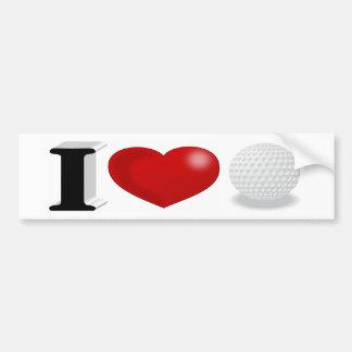 Autocollant De Voiture J'aime l'adhésif pour pare-chocs du golf 3D